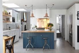 kitchen copper pendant light blue island metal stool with regard to plan 10