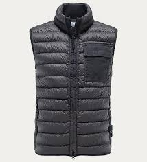 down gilet garment dyed micro yarn down anthracite