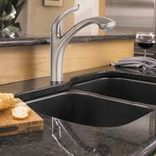 Granite Double Bowl Kitchen Sink Kitchen Amazing Kitchen Faucet Home Depot With Stainless Steel