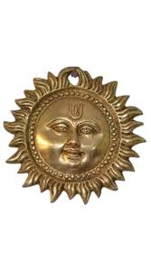 sun wall hanging brass metal plaque indian home decor 4 inch