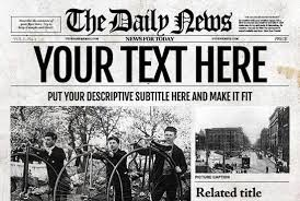 Old Fashion Newspaper Template Provide You With An Old Style Newspaper Template