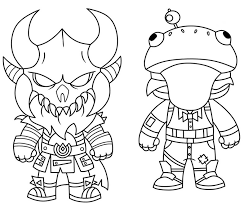 Disegno Da Colorare Fortnite Mini Cute The Dark Viking E Mini Frog 3