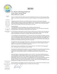 Memo To Board Of Directors Fairhope mayor issues memo to city employees regarding 64