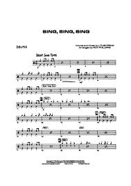 drums sheet music sing sing sing drums louis prima digital sheet music gustaf