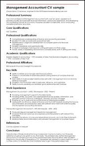 resume format for experienced accountant management accountant cv sample myperfectcv