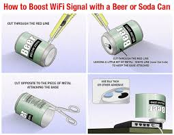 how to boost a wifi signal with a soda or beer can