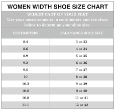 Shoe Width Chart Inches Copy Of Shoe Size Chart Salamanca Custom Made Tango Shoes