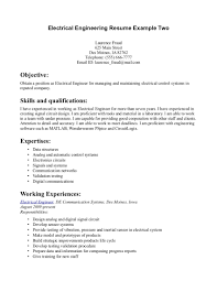 Electrical Engineer Resume Examples Resume Samples