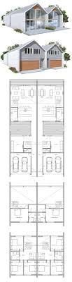 ideas about Duplex House Plans on Pinterest   Duplex House    Duplex House Plan to narrow lot