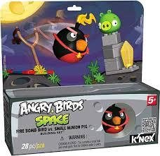 KNEX Angry Birds Fire Bomb Bird vs Small Minion Pig Set 72432 - ToyWiz
