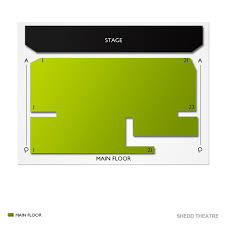 Shedd Theatre 2019 Seating Chart