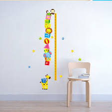 Animal Height Chart Measure Kids Children Girls Boys Wall Sticker Art Decal Stickers Room Decor Diy Home Decoration Decals H10325 Sticker For Walls