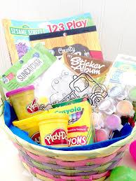 kids crafty basket one of 200 non candy easter basket ideas