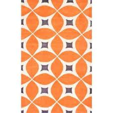 gabriela deep orange 10 x 14 area rug