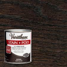 Varathane 1 Qt Kona Stain And Polyurethane 266153 The