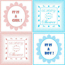 newborn baby announcement sample baby shower invitation card template set boy and girl design