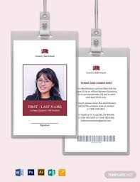 Blank School Id Template Free 10 School Id Cards Examples Templates Download Now