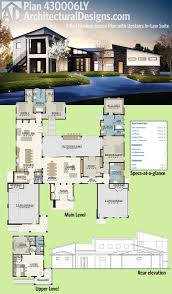 plan ly 4 bed modern house plan with upstairs in law suite