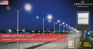 Light Poles California This 300w Led Led Pole Light Is The Most Powerful Outdoor