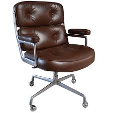 Office chair vintage Metal Vintage Brown Leather Eames Time Life Chair For Sale 1stdibs Vintage Brown Leather Eames Time Life Chair For Sale At 1stdibs