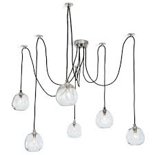 regina andrew design molten spider small with clear glass pendant chandelier 16 1111pn