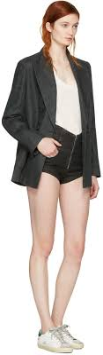isabel marant black denim everson shorts women isabel marant boots barneys best value