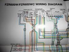 600w in antique vintage historic yamaha oem factory color wiring diagram schematic 1989 fzr600w fzr600 w wc