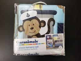 garanimals 3 piece boating buds monkey nursery crib set baby shower gift