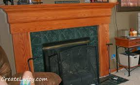 Tile Fireplace Makeover Createlivity Is Fireplace Makeover Painting Tiles