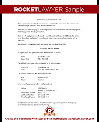 travel consent form form template test consent letter for children travelling abroad