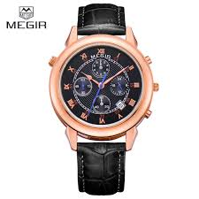 brand watch men 2013 promotion shop for promotional brand watch relogio masculino megir men watch mens watches top brand luxury chronograph 24 hours clock multifunction leather quartz watch