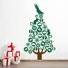 Vinyl Interior Design Large Australian Christmas Tree Wall Decal