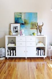 another creative idea to upgrade kallax shelving units from ikea by adding doors or drawers