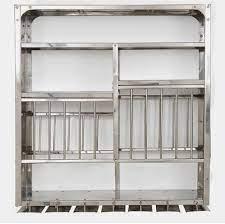 silver wall mount plate rack dream