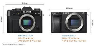fujifilm x t20 vs sony a6300 detailed