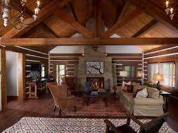 Western Style Living Room Furniture Beige Shade Varnished Wood End Table Ceramics Floor Striped
