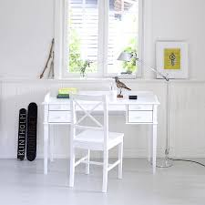 white desk. White Scandanavian Desk Or Dressing Table - Tables