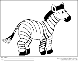 Small Picture 42 Zebra Coloring Pages to Save Gianfredanet