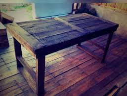 diy rustic furniture plans. Recycled Pallet Rustic Dining Table Diy Furniture Plans
