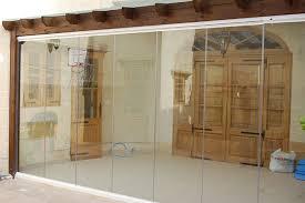 frameless glass curtains doors for home