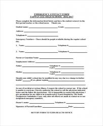 In Case Of Emergency Form For Employees Download In Case Of Emergency Forms Monpence Top Template Collection