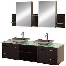 Standard Bathroom Vanity Top Sizes Wyndham Collection Avara 72 Double Bathroom Vanity Set Espresso