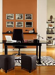 orange home office. A Vibrant Orange Accent Wall Energizes This Home Office. Office