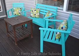 wood patio furniture painted outdoor