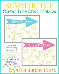 I Can Do It Chart Printable Printable Screen Time Chart For Kids Plus A Printable List