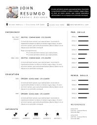 Sethos Modern Black White Resume Template Resumgocom