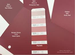 marsala pantone 2016 color of the year close matches of some commercial paint companies to pantone