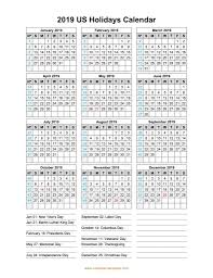 Free Yearly 2019 National Holiday Australia Calendar Templates
