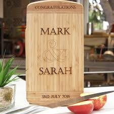 personalised wedding gift for couples chopping board