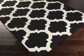 contemporary black and white area rugs artistic weavers york harlow awhd1028 black white area rug